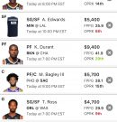 Fantasy Basketball: DraftKings DFS line up for 12/27/20